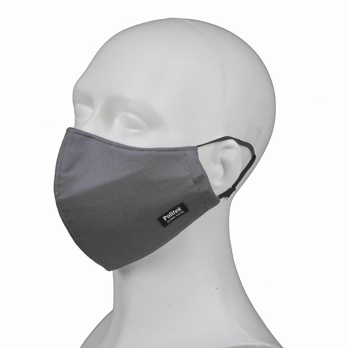 Polltek ultra-fijnstof mondkapje N95 active carbon kleur donkergrijs