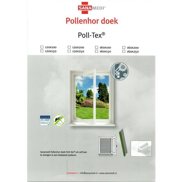 Sanamedi Poll-Tex® los pollendoek 160x150cm | Pollenhor - Pollengaas