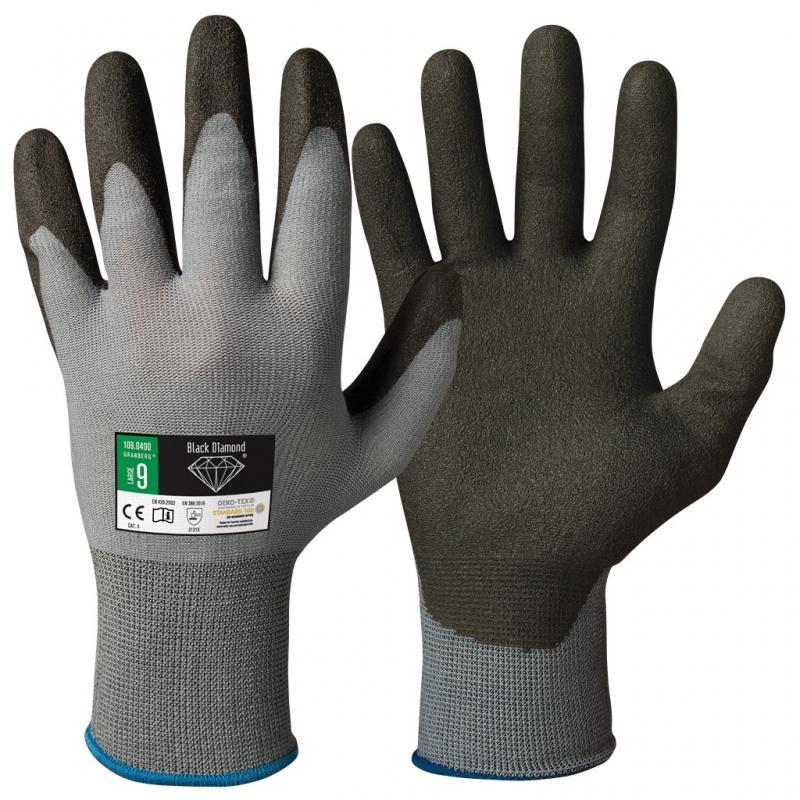 werk / tuin handschoenen Black Diamond-XL - 10 | Bamboe handschoenen bij eczeem