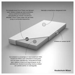 Koudschuim matras Milaan > Kindermatras koudschuim Milaan 80x200 cm