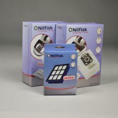 Nilfisk Elite serie > Nilfisk ELITE voordeel set 8x stofzak HD +2x voorfilter + HEPA14 filter