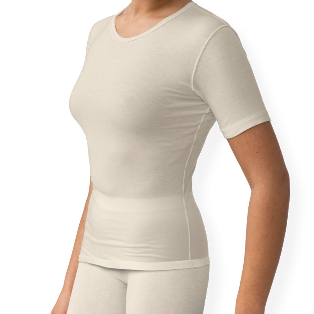 Sanamedi -Zink eczeemkleding vrouwen shirt korte mouw-L (44/46)
