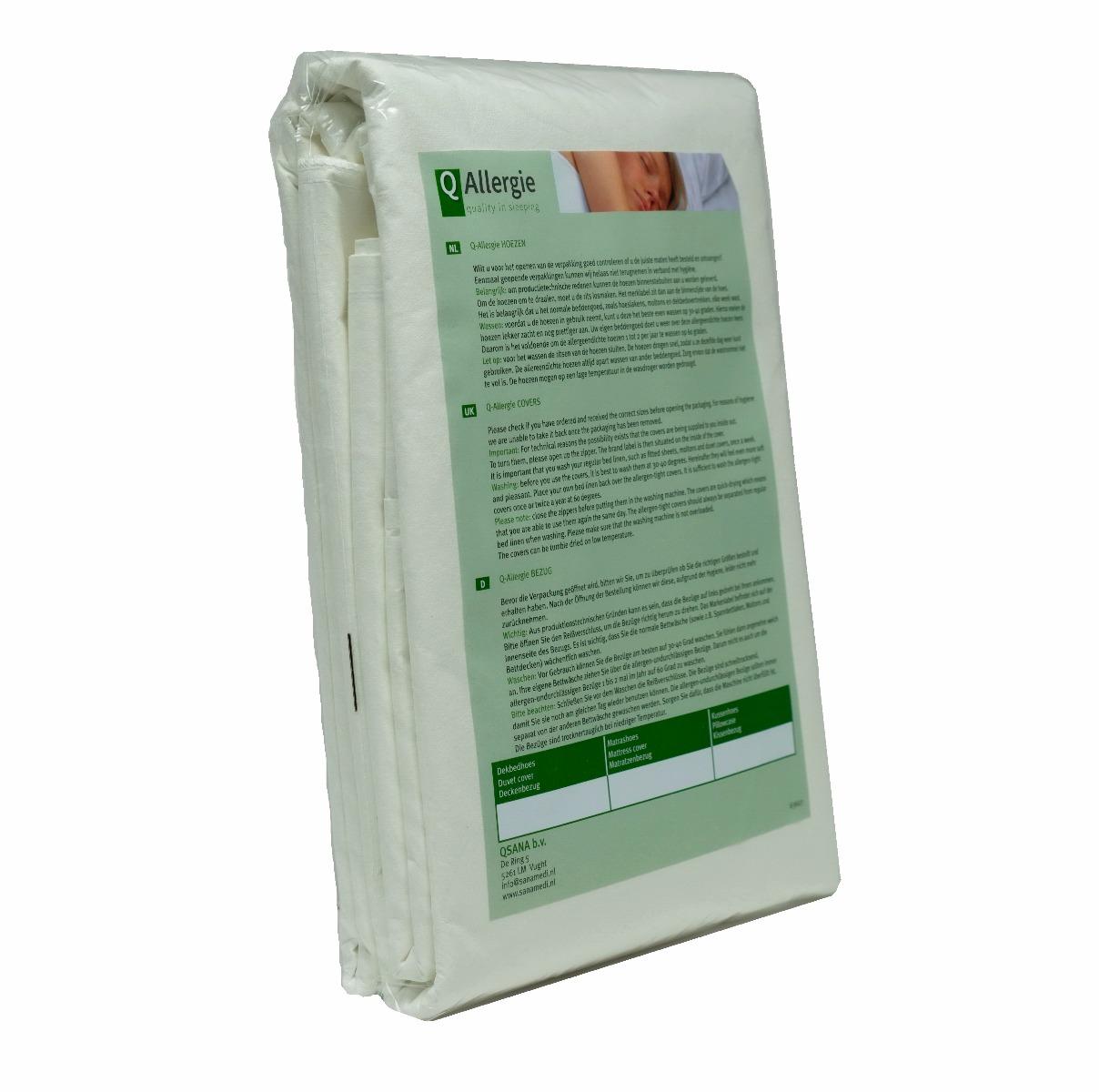 Dekbedhoes Q-Allergie 1-Persoons 140 x 200 cm   Anti allergie dekbedhoes
