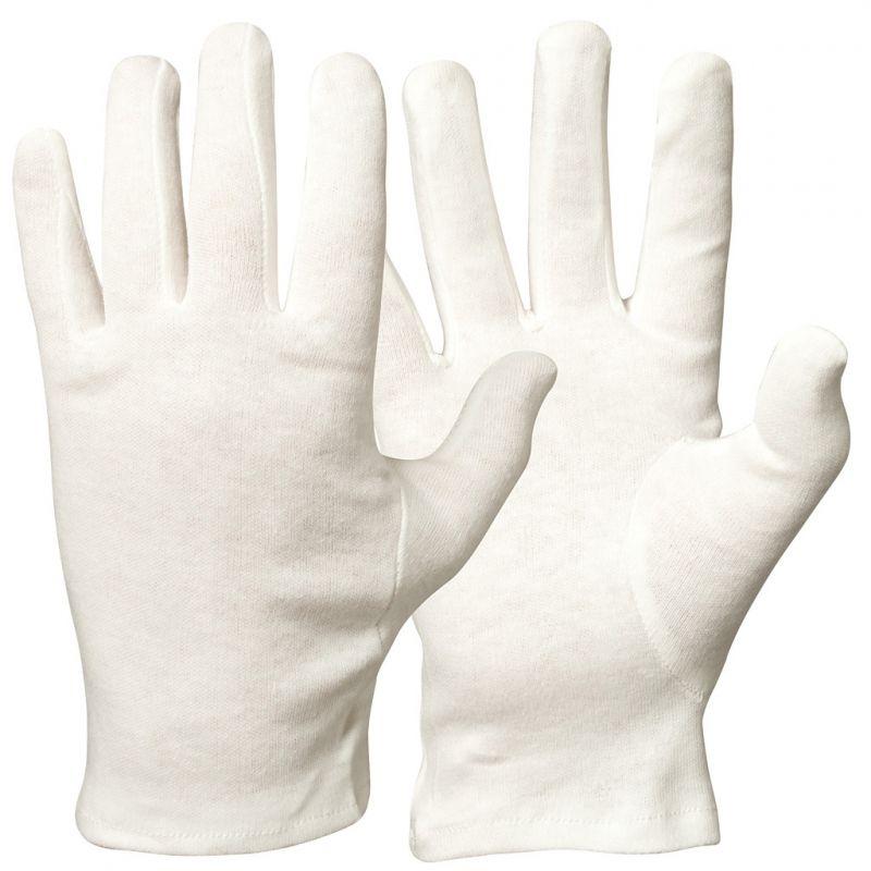 Gebreide katoenen handschoenen 7 / SMALL | Bamboe handschoenen bij eczeem