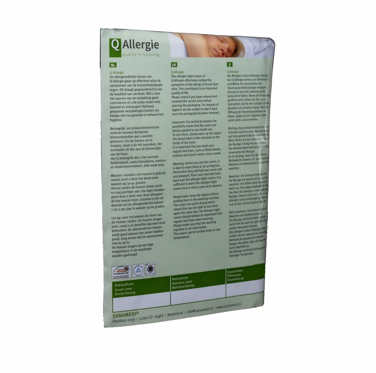 Kussenhoes Q-Allergie 60 x 60 cm | Anti allergie kussenhoes